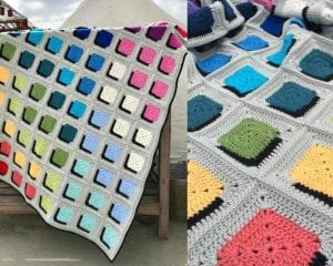 Double A Design Blanket Free Crochet Pattern