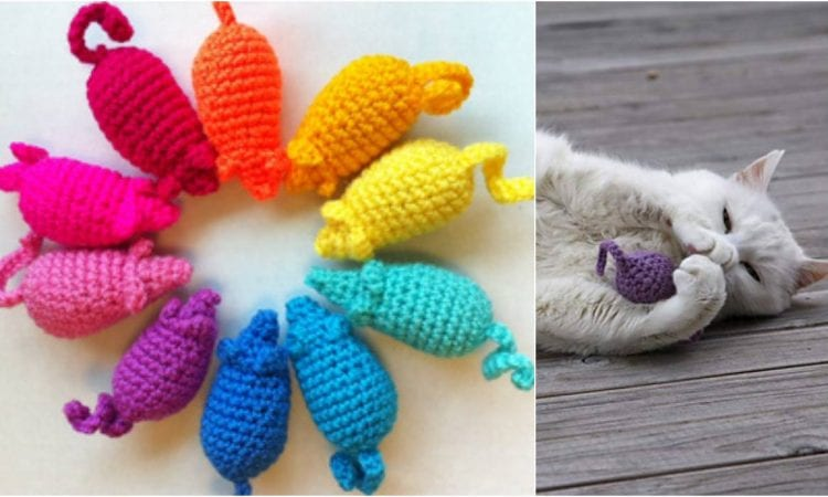 Easy Peasy Catnip Mouse Toy Free Crochet Pattern