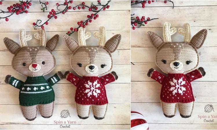 Holiday Deer Free Crochet Pattern