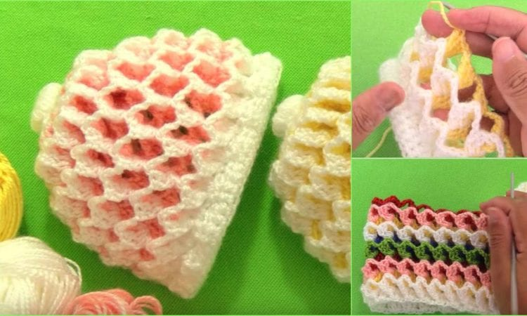 3D Reversible Beanie Hat Free Crochet Tutorial