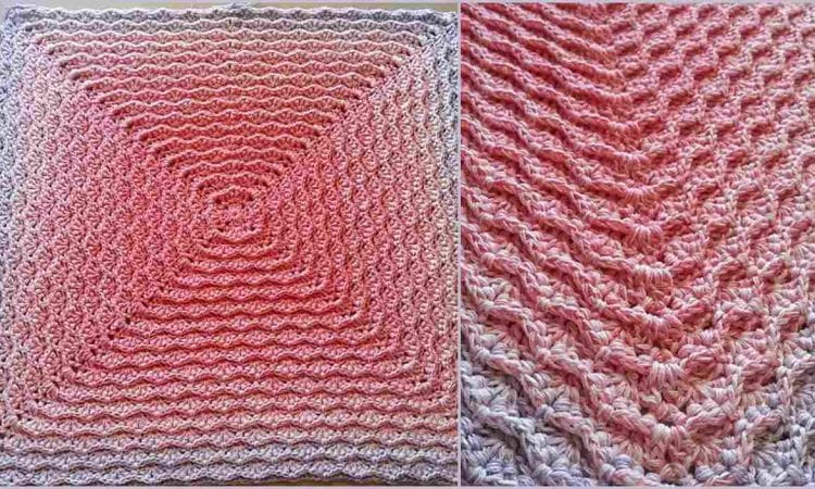 Royal Touch Square or Blanket Free Crochet Pattern