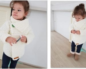 Snowdrop Cardigan Free Crochet Pattern