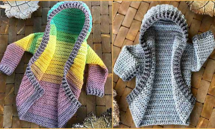 All Season Hoodie For Kids and Adults Free Crochet Pattern