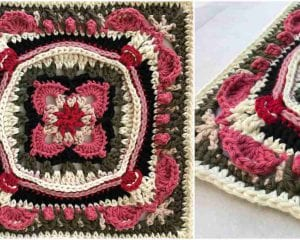 Lauren Rose Square Free Crochet Pattern