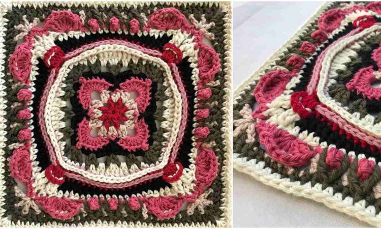 Lauren Rose Square Free Crochet Pattern