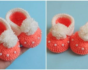 Baby Cuffed Booties Free Crochet Pattern