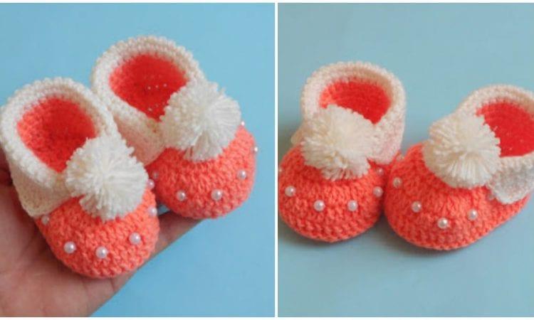 Baby Cuffed Booties Free Crochet Pattern