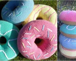 Donut Coushion Free Crochet Pattern