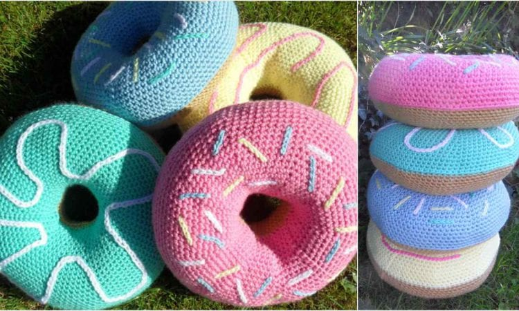 Donut Coushion Free Crochet Pattern