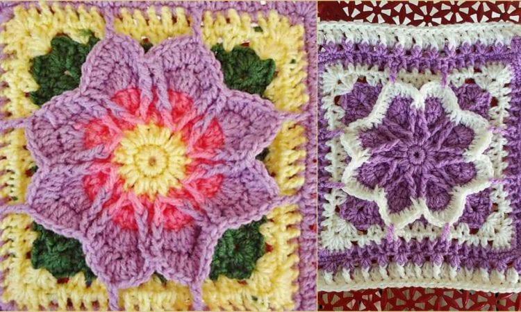 Fall Blossom Free Crochet Pattern
