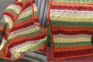 Fall Fantasy Throw Free Crochet Pattern