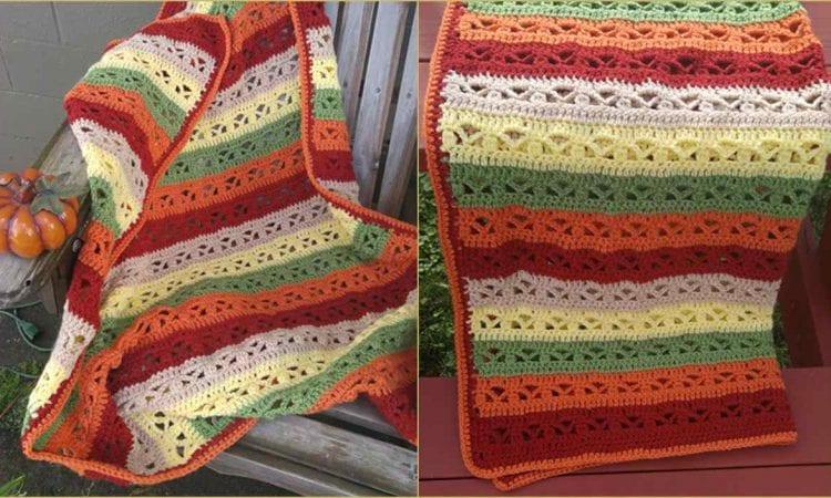 Fall Fantasy Throw Free Crochet Pattern