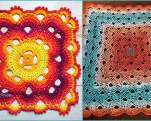 Virus Sort of Blanket Free Crochet Pattern