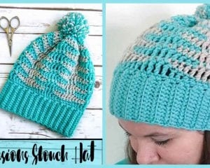 Illusion Slouch Hat Free Crochet Pattern