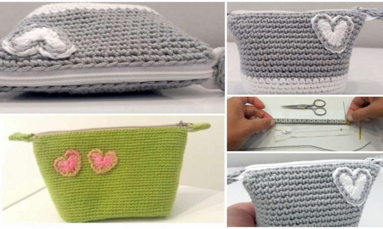 Make Up Pouch or Coin Purse Free Crochet Pattern