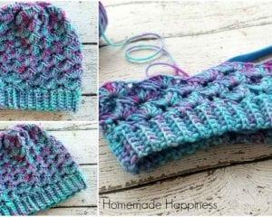 Shell Stitch Beanie Free Crochet Pattern