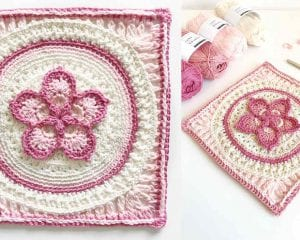The Fab5Flower Square Free Crochet Pattern