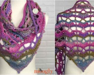 Tuscan Moon Shawl Free Crochet Pattern