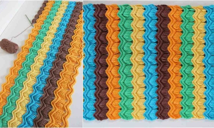 Vintage Fun Ripple Baby Blanket Free Crochet Pattern Your Crochet
