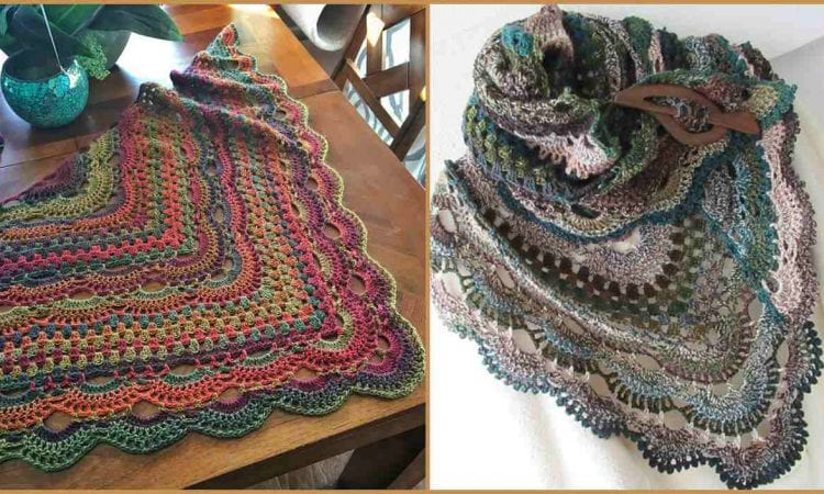 Virus Meet Granny Shawl Free Crochet Pattern Your Crochet
