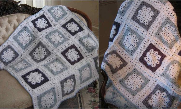 Winter Sky Throw Free Crochet Pattern