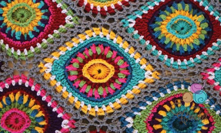 Christmas Boho Ornament Afghan Free Crochet Pattern