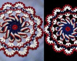 Pretty Pinwheel Doily Free Crochet Pattern