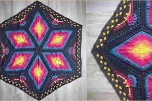 Ubuntu Hexagon Blanket Free Crochet Pattern