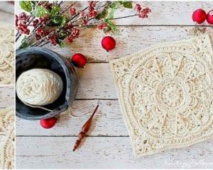 Winter Opulence Square Free Crochet Pattern