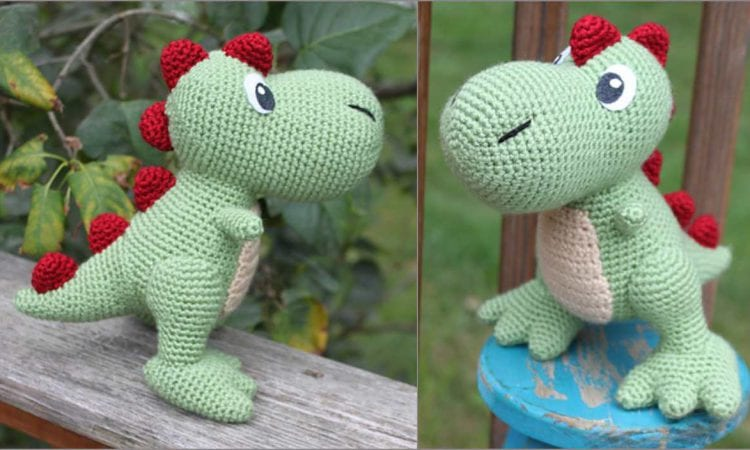 Amirugumi Dino T-Rex Free Crochet Pattern