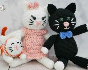 Amigurumi Kitty Family Free Crochet Pattern