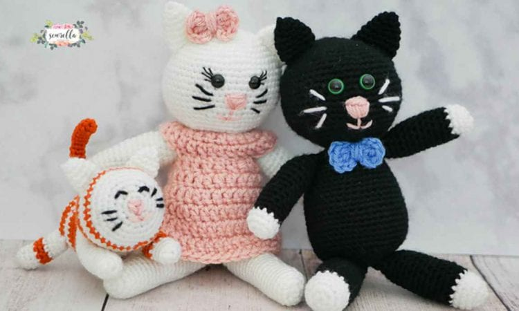 Amigurumi Kitty Family Free Crochet Pattern