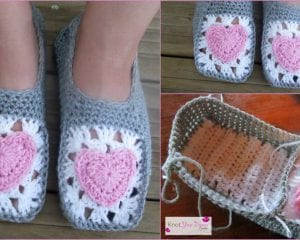 Easy Slippers Free Crochet Pattern