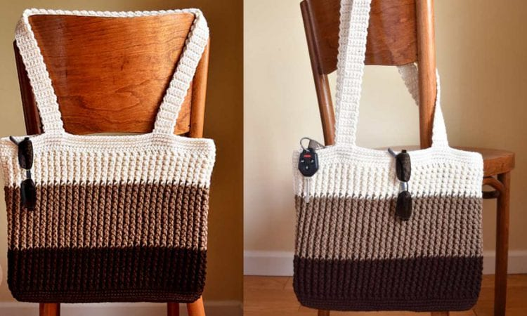 Easy Tote Bag Free Crochet Pattern