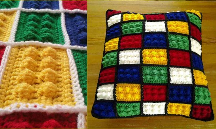 Lego Block Pillow or Blanket Free Crochet Pattern