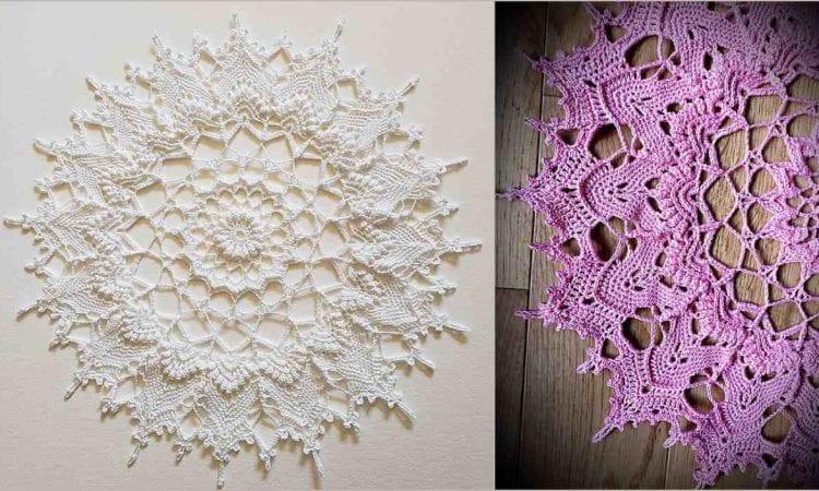 Crowns Of Majesty Doily Free Crochet Pattern