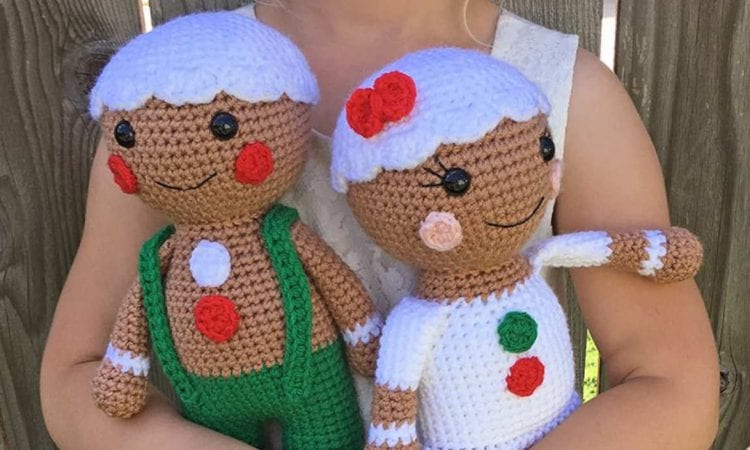 Gingerbread People Free Crochet Pattern