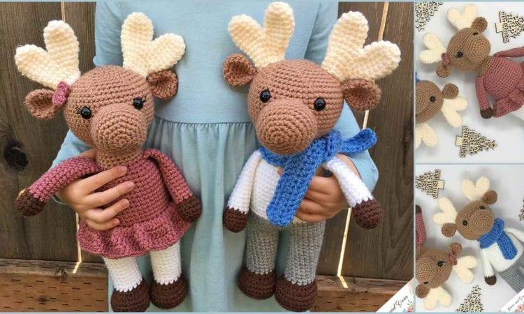 Amirugumi Moose Free Crochet Pattern