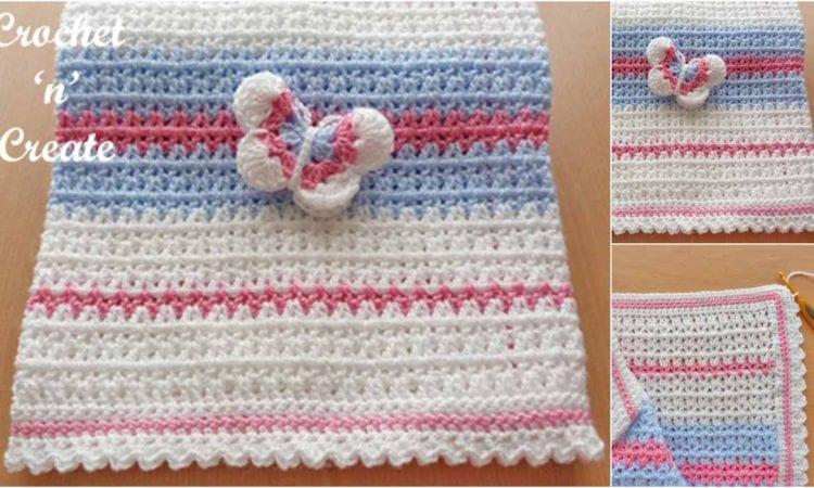 Butterfly Baby Blanket Free Crochet Pattern