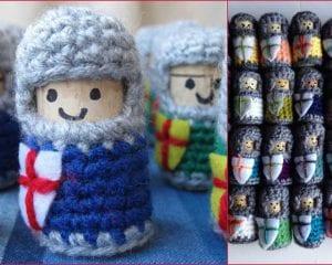 Cork Knights Free Crochet Pattern
