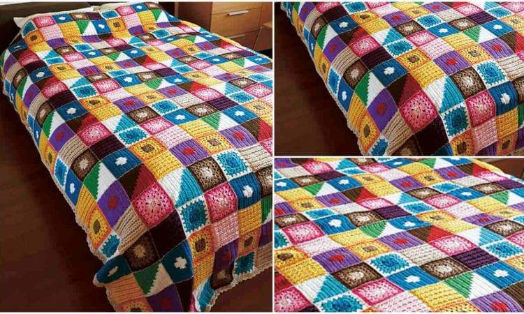 Kukka Bedspread Free Crochet Pattern