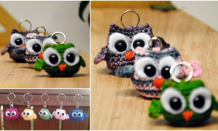 Owlet Keychain Free Crochet Pattern
