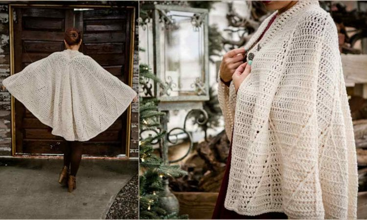 Snow Charming Cape Free Crochet Pattern