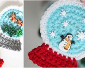 Snowglobe Ornament Free Crochet Pattern