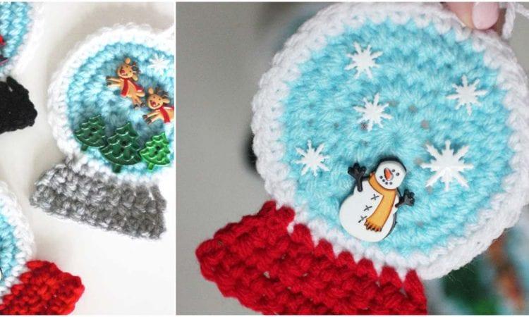Snowglobe Ornament Free Crochet Pattern