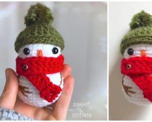 Tiny Baby Snowman Free Crochet Pattern