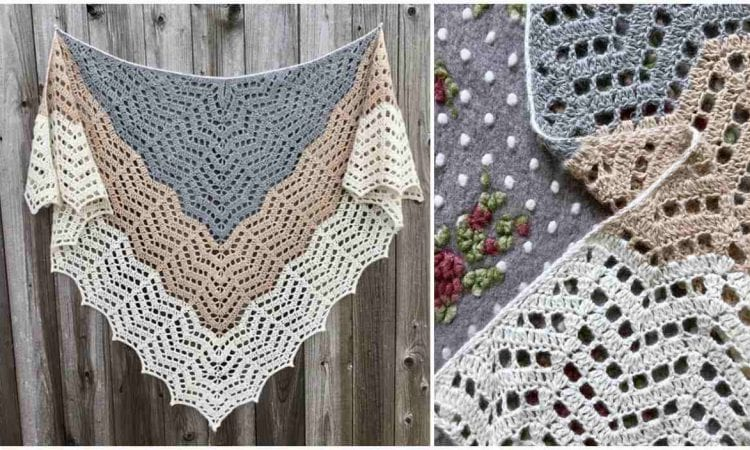 Winter Saffron Shawl Free Crochet Pattern