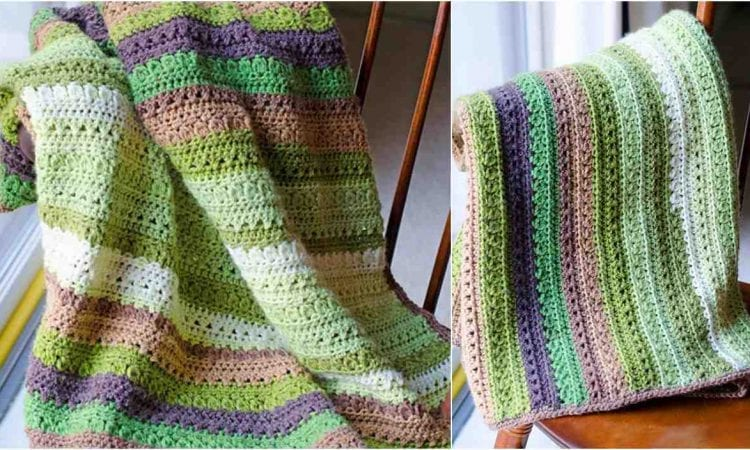 Fields and Furrows Afghan Free Crochet Pattern