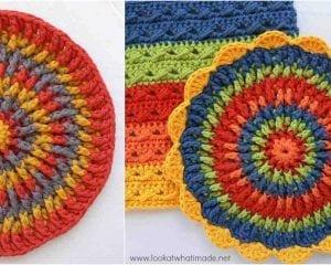 Front Post Frenzie Potholder Free Crochet Pattern