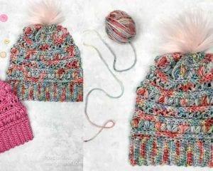 Love Bug Slouchy Hat Beanie Free Crochet Pattern